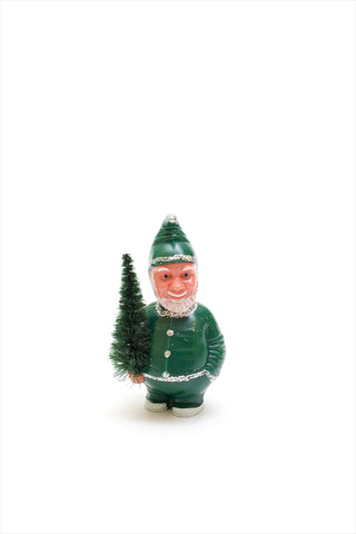 Nodding Santa Green