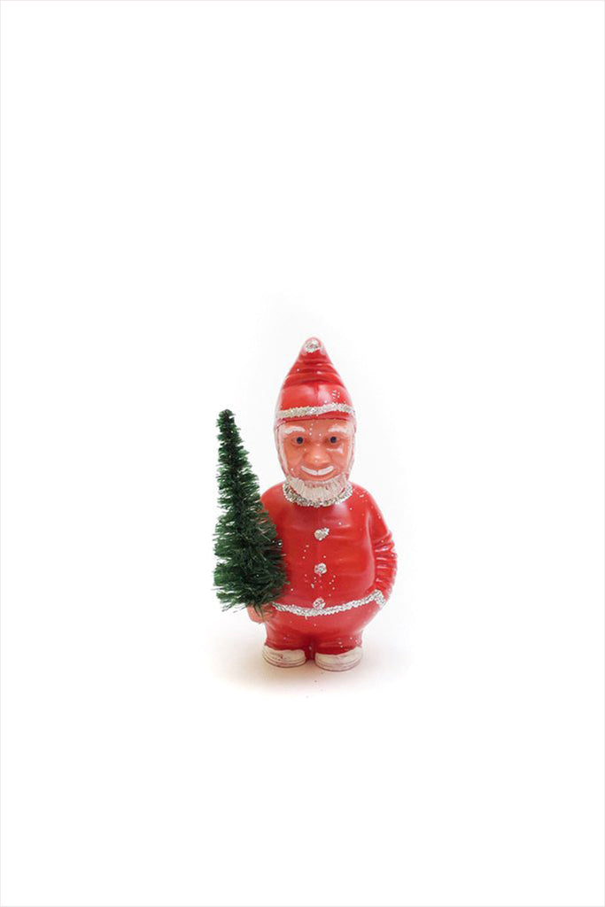 Nodding Santa Red