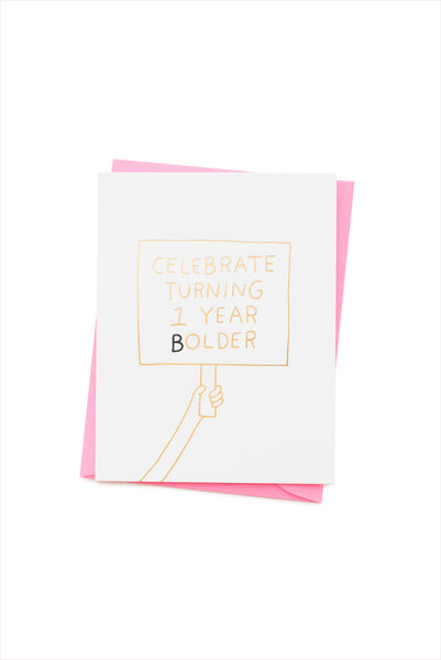 Turning 1 Year Bolder Card