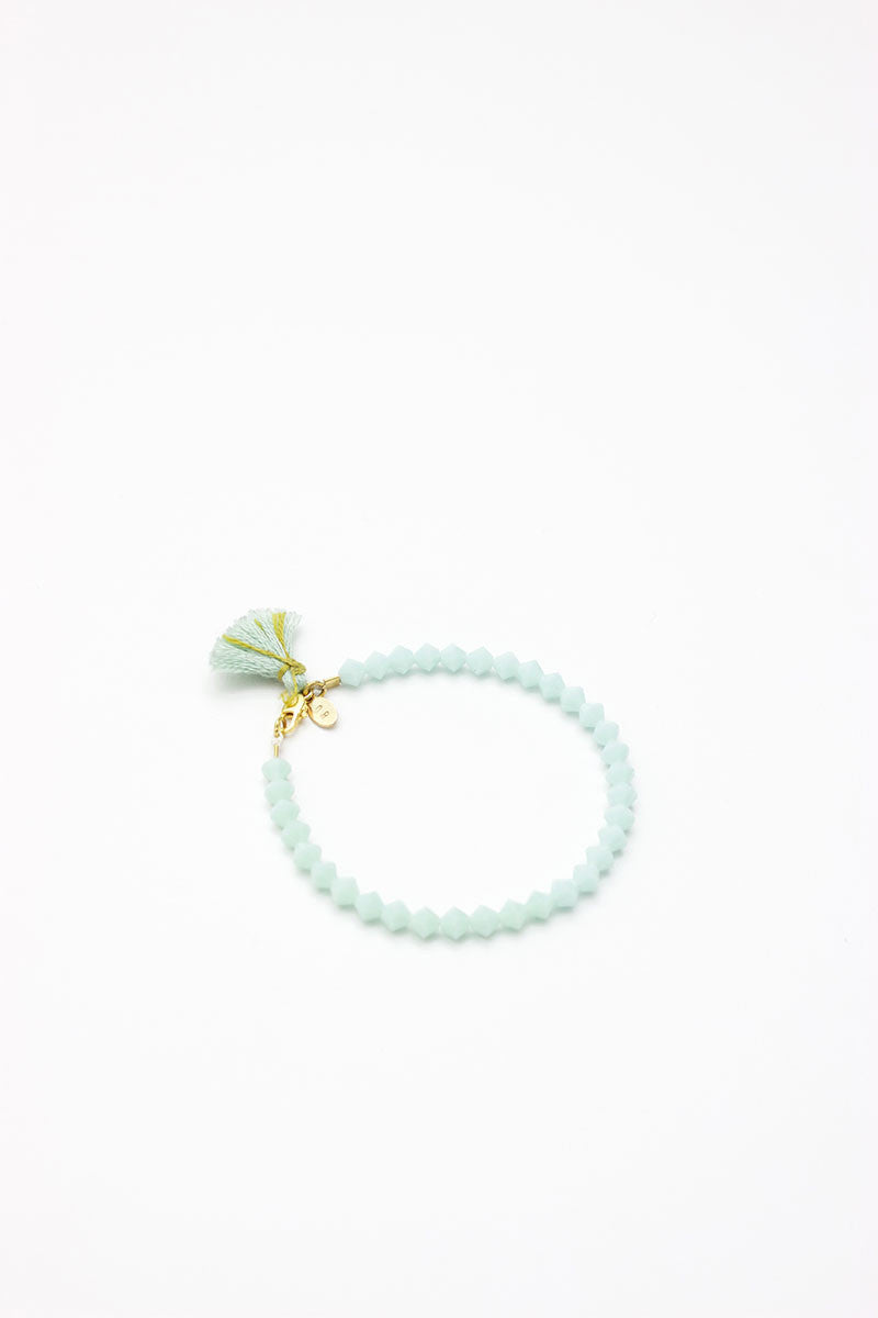 Opaque Mint Crystal Bracelet