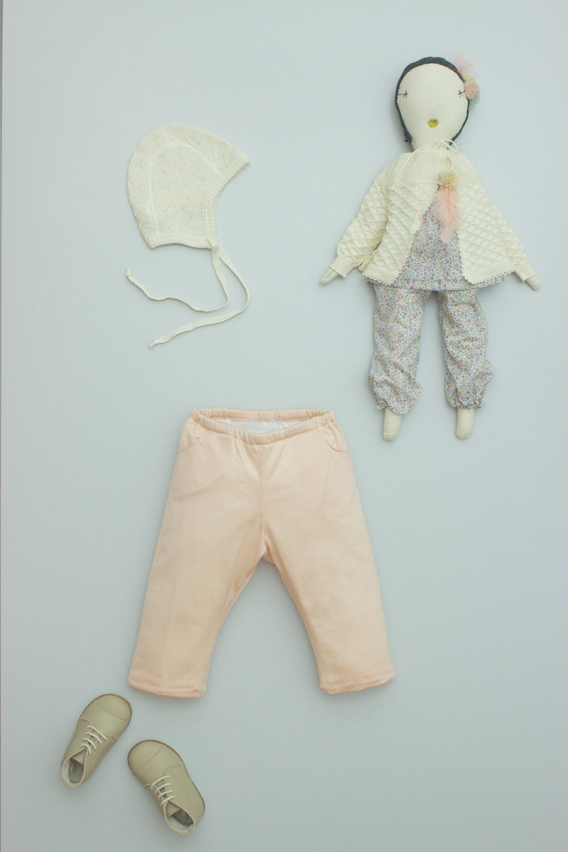 Padded Baby Pant Pale Coral