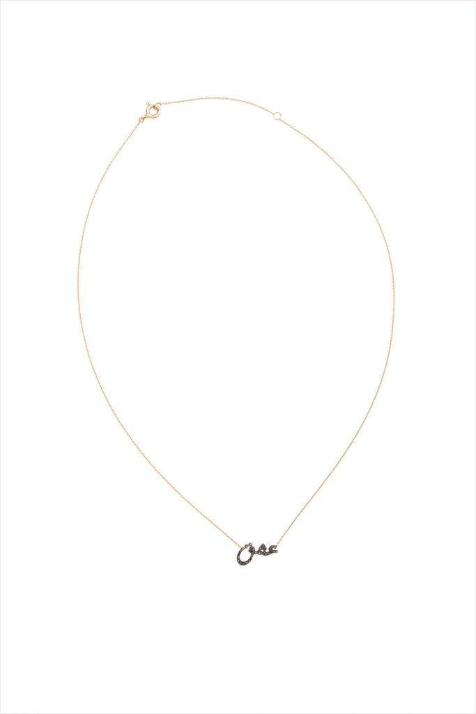 ESHK Passion Black Diamond 14k Gold Necklace