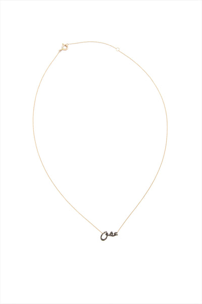 ESHK Passion Black Diamond Rose Gold Necklace