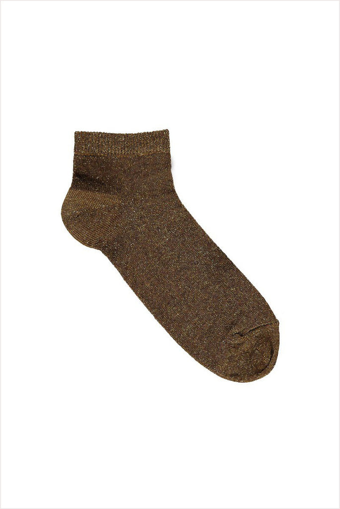April Showers Tobacco Penny Ankle Sock
