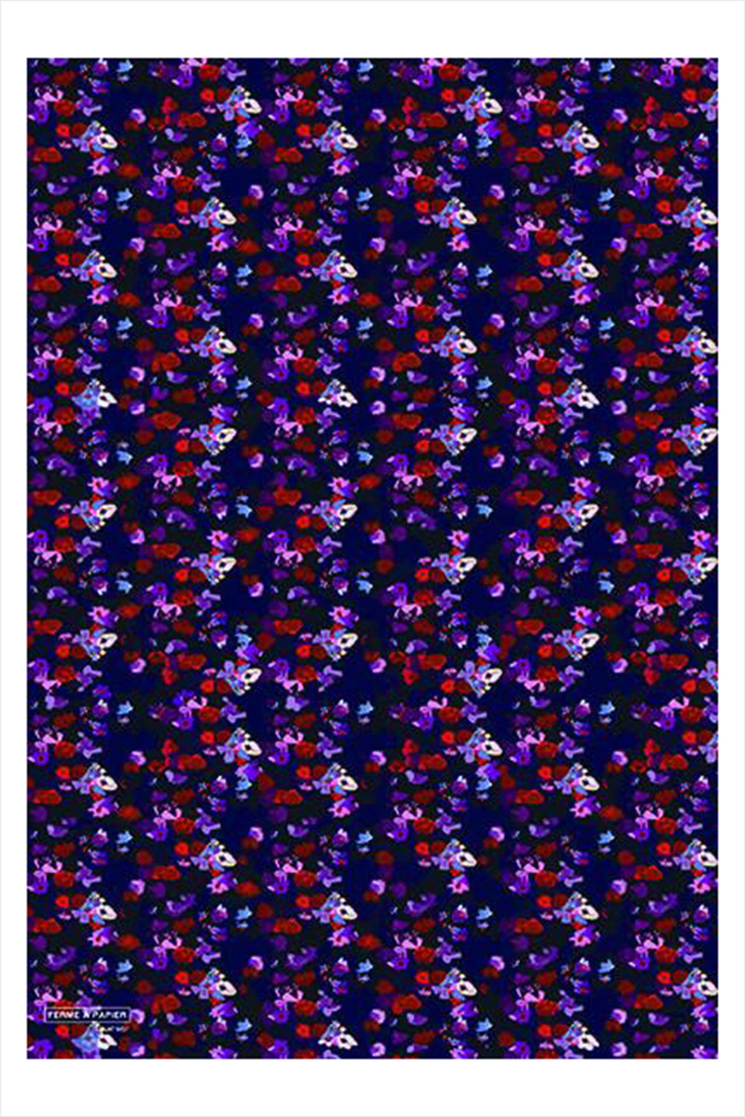 Purple Floral Gift Wrap Roll