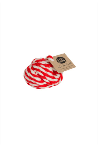 Red Twist Wool Ball