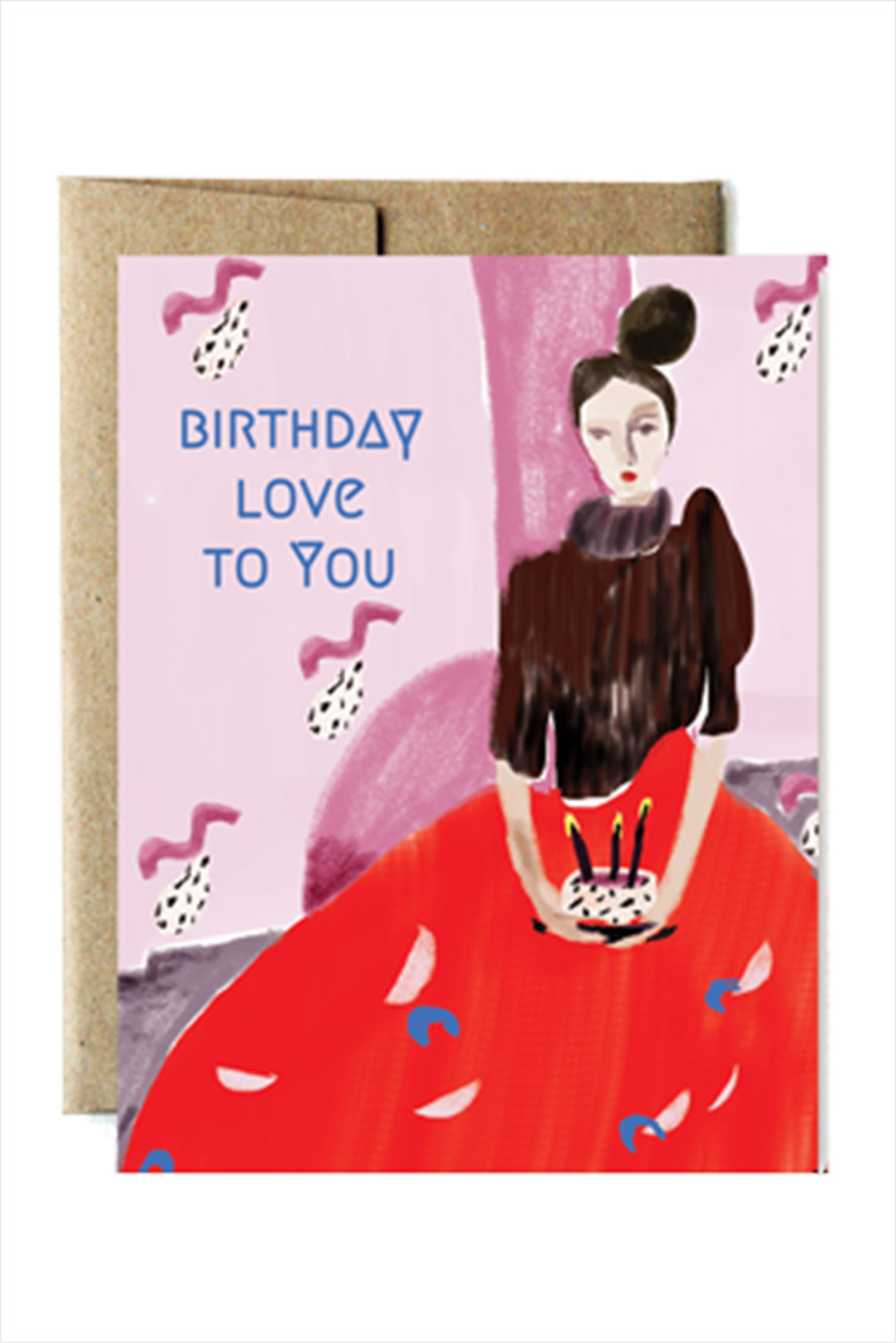 Red Gown Birthday Card