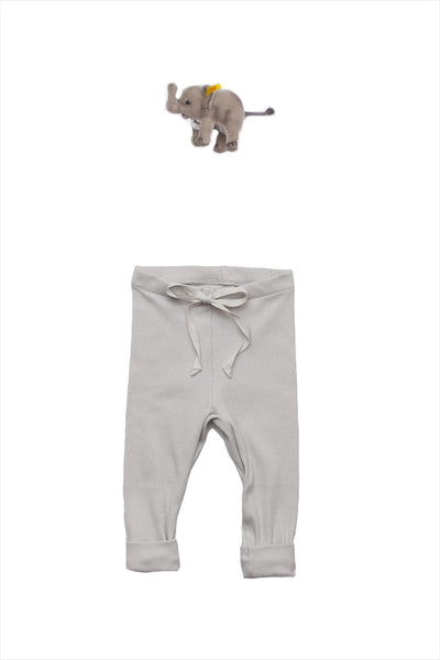 Rib Baby Legging Pale Gray