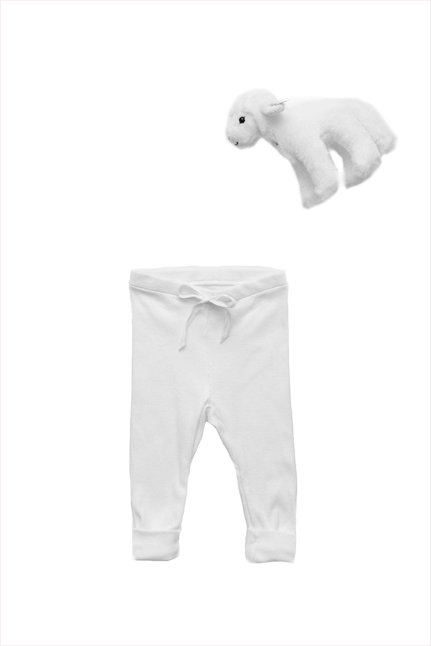 Rib Baby Legging White