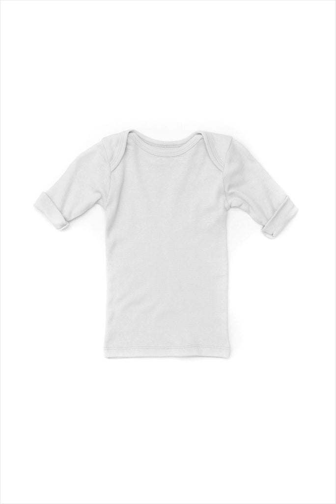 Rib Lap Shoulder Tee Short Sleeve Pale Gray