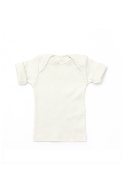 Rib Lap Shoulder Tee Short Sleeve Sand