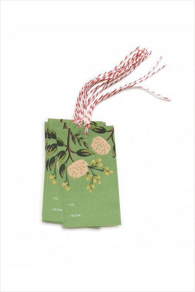 Emerald Peonies Gift Tags