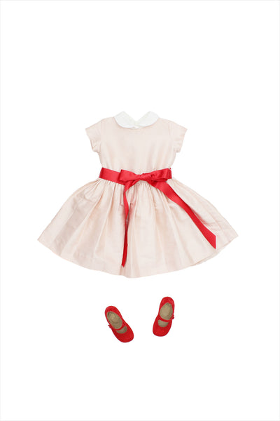 Silk Party Dress Peach