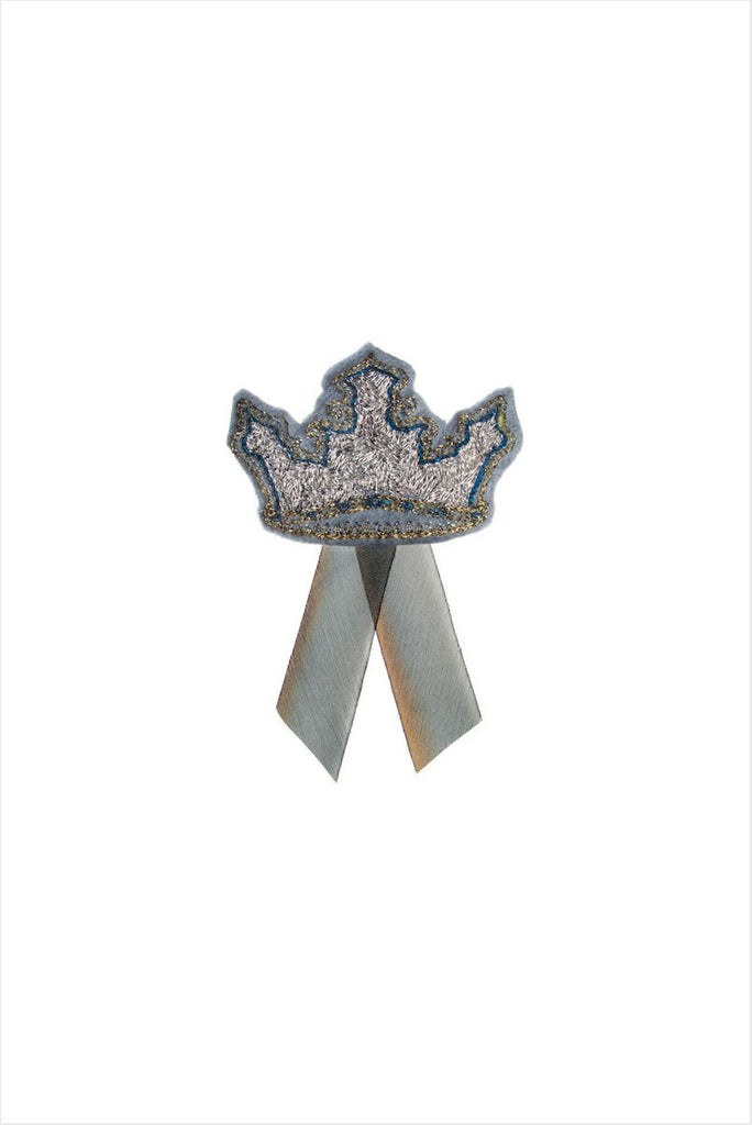 Silver Crown Pin
