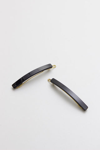 Skinny Black Barrette