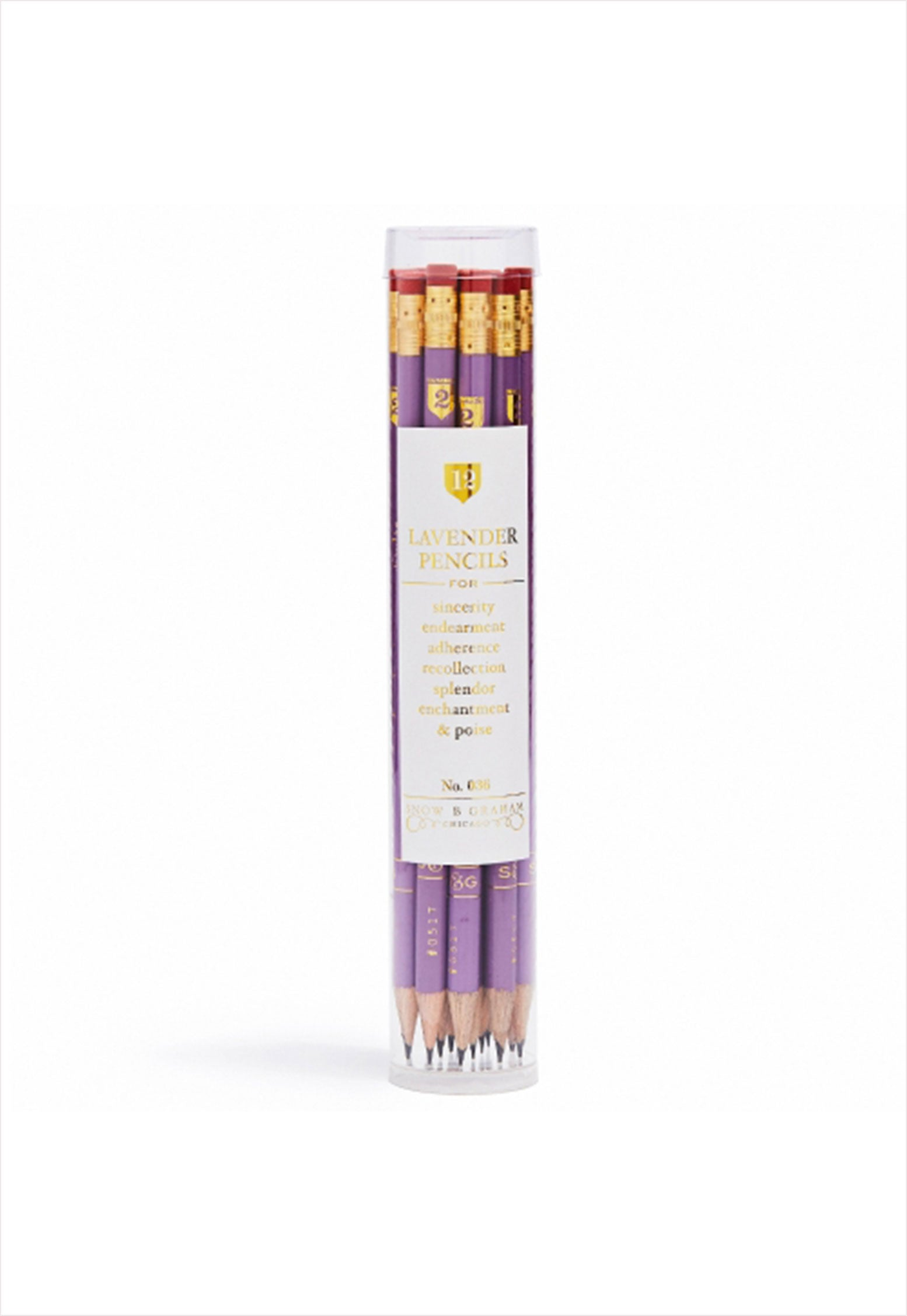 Lavender Pencil Set