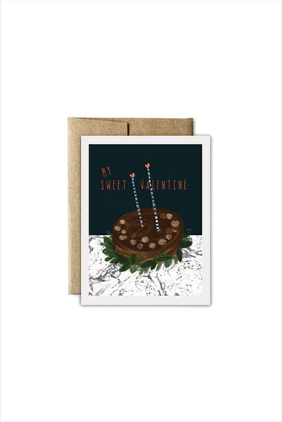 Be My Valentine Cake Card