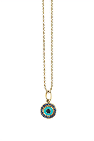Small Enamel Eye Pendant Necklace