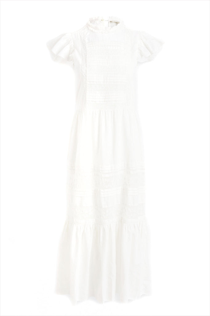 The Great Blackbird Dress Cream