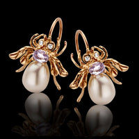 Macc Jewels Pearl And Gold Bug Earrings