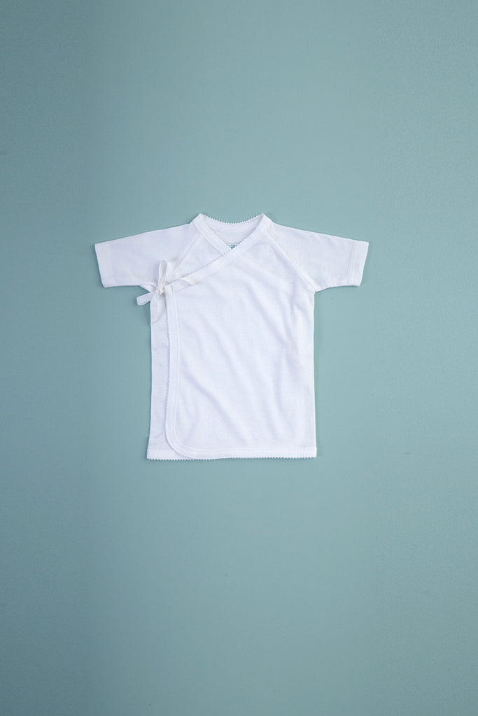 Tie Front Tee Short Sleeve Cloud