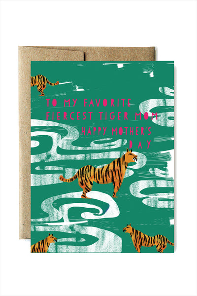 Fierce Tiger Mother's Day Card