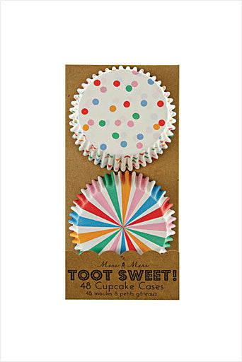Toot Sweet Spotty Cupcake Liners