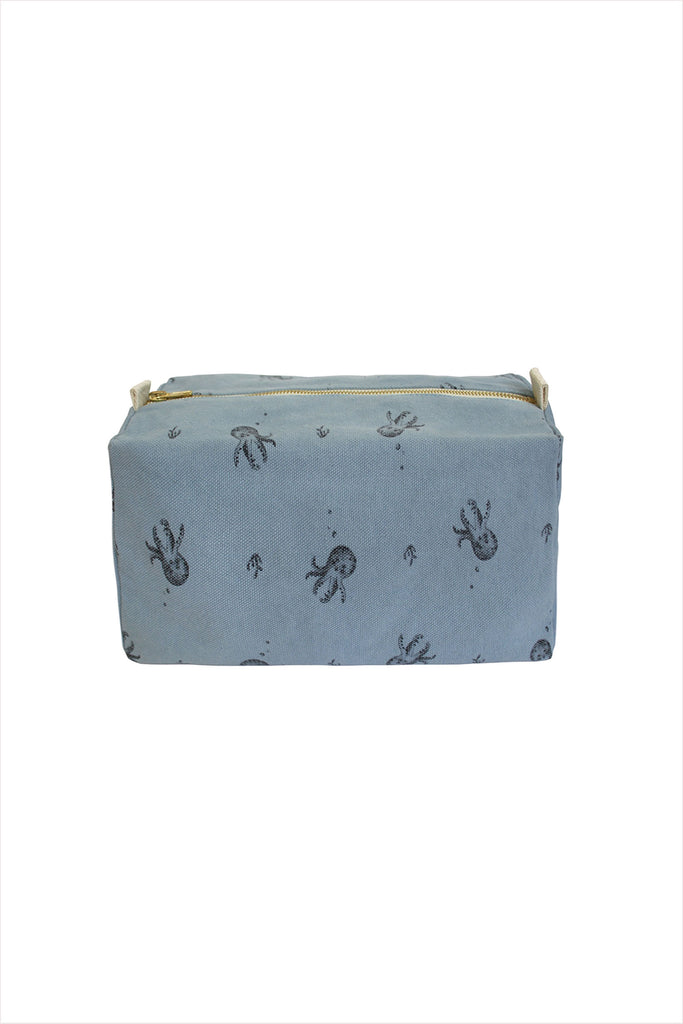 Pouch Octopus Grey Blue