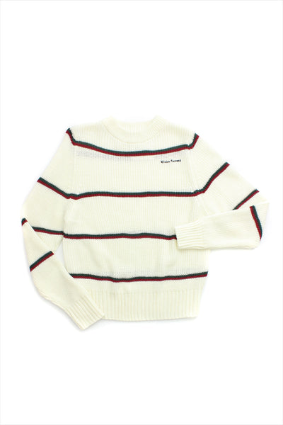 Vivien Ramsay Rainbow Stripe Crew Sweater