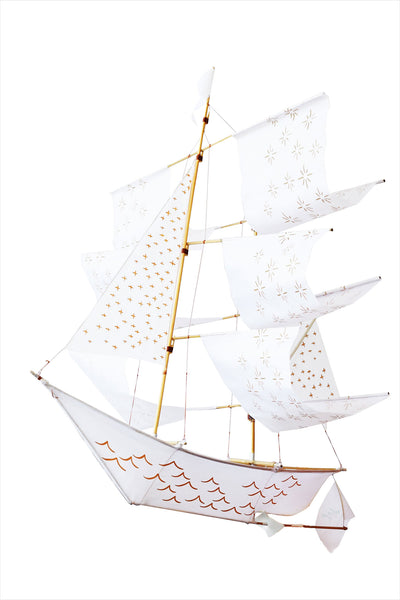 Argo Sailing Ship Kite White Printed