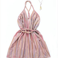 Electric Feathers Short Infinite Rope Dress