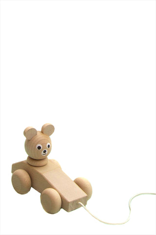 Wooden Pull - Along Bear