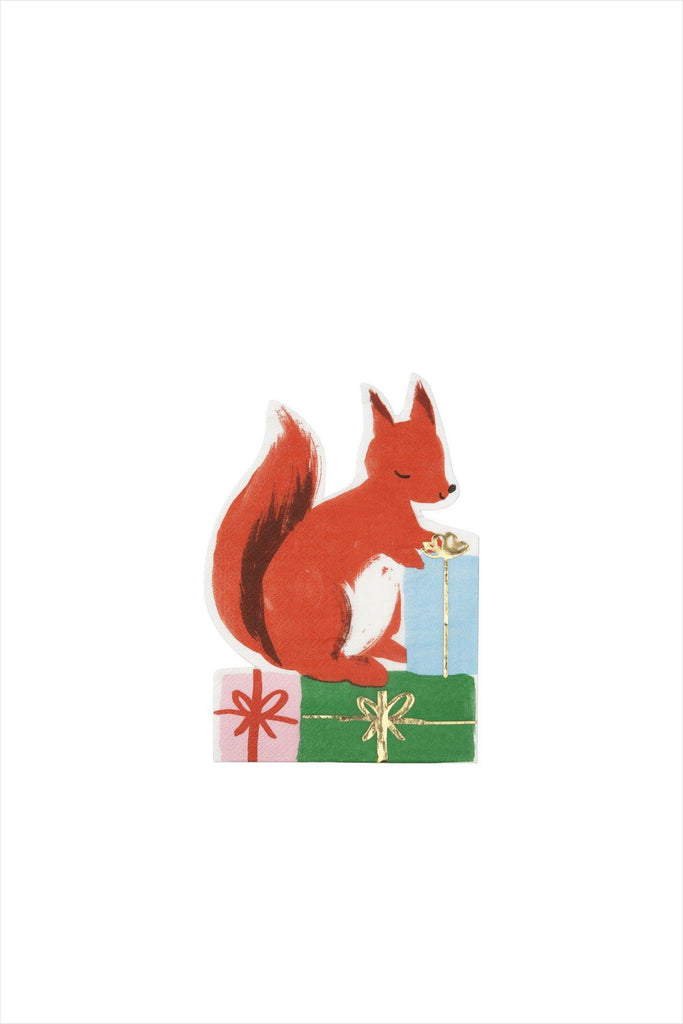 Woodland Squirrel Small Napkins