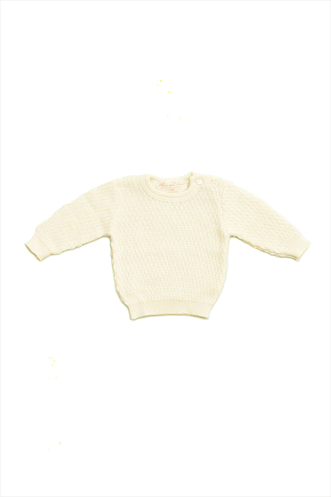 Wool Silk Crewneck Sweater Baby