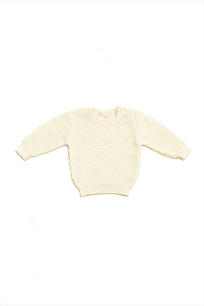 Wool Silk Crewneck Sweater