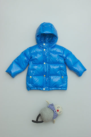 Puff Parka Short Bright Blue