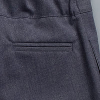 Wool 40's Pant Charcoal Blue