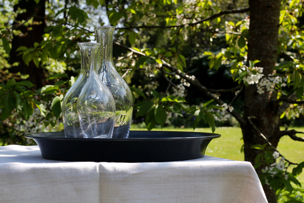 Crystal glass carafe