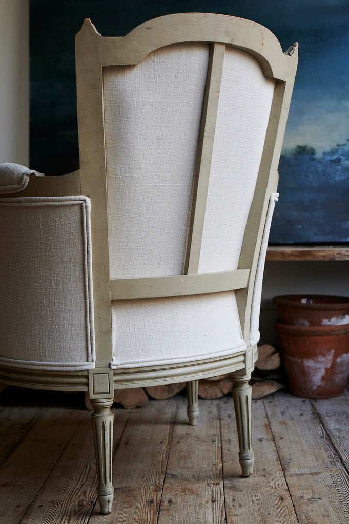 decorative french painted chair