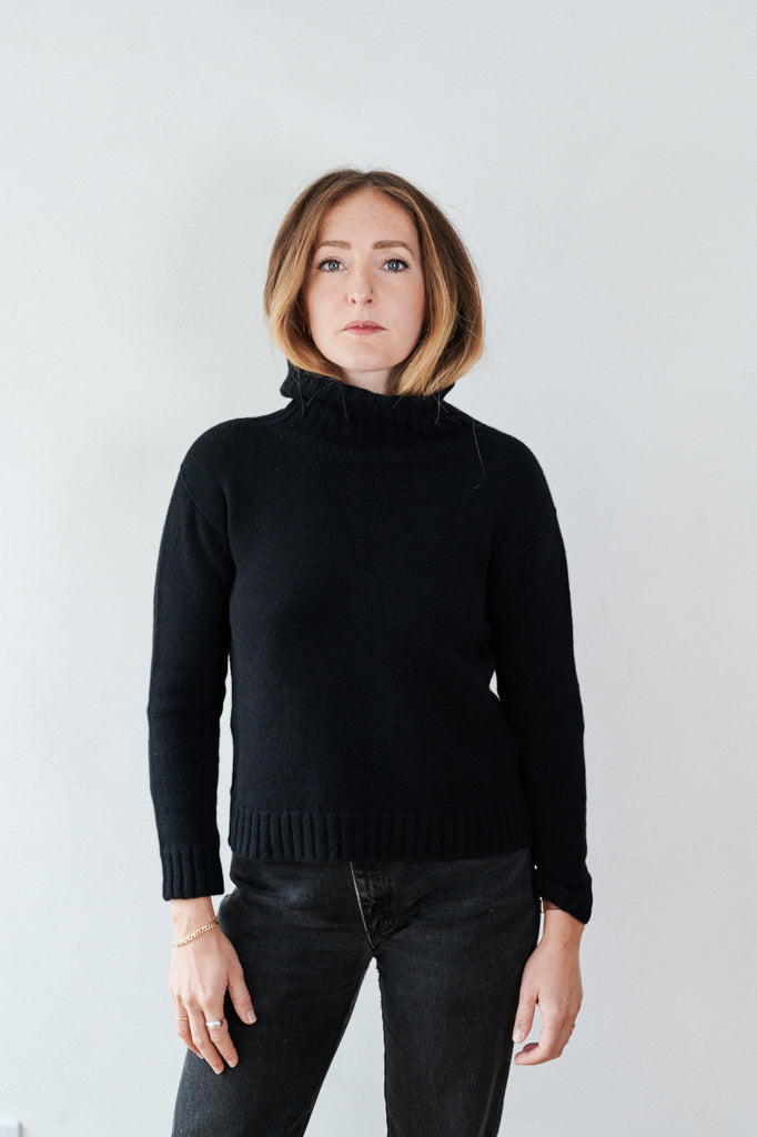 Lambswool and cashmere womens plain knit jumper