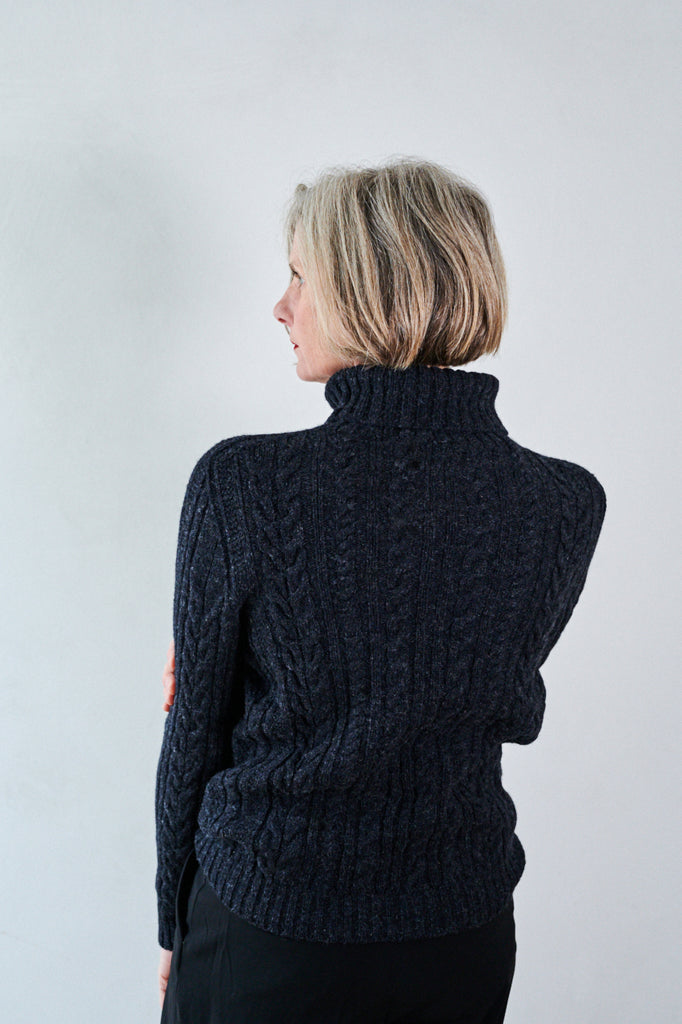 Womens Cable Knit Lambswool Jumper