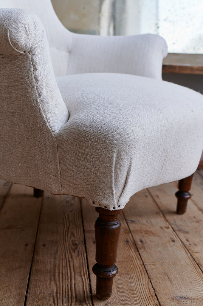A pair of matching French armchairs