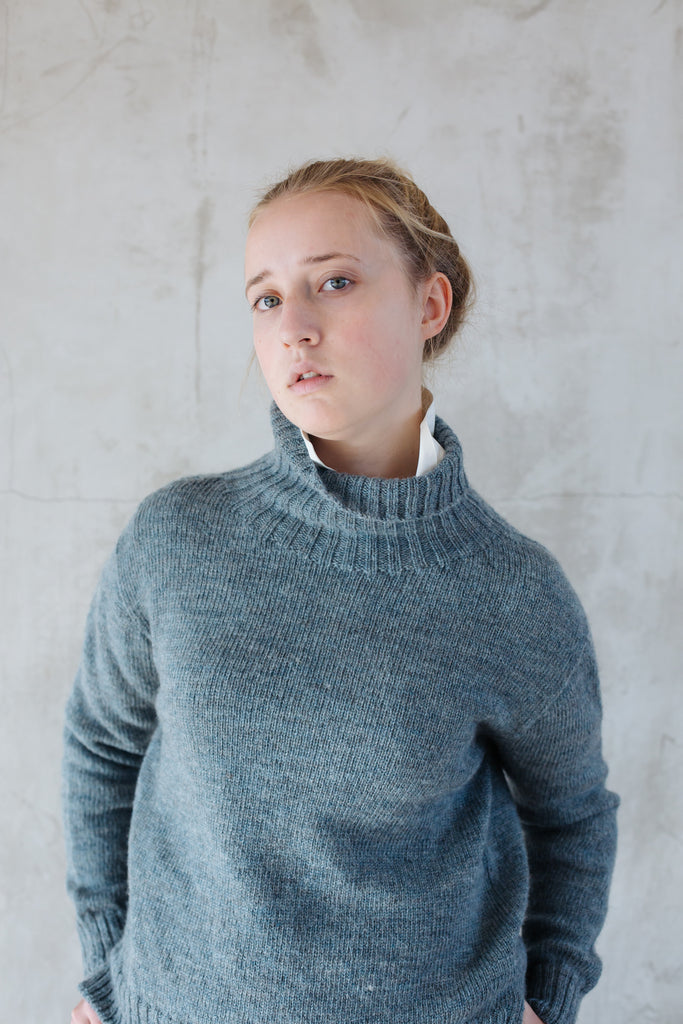 Womens Plain Knit Lambswool Jumper