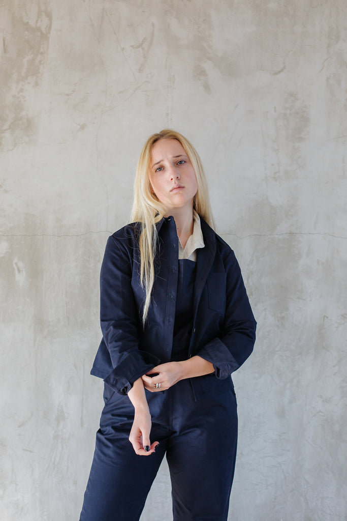 Cotton Drill Jacket - Navy