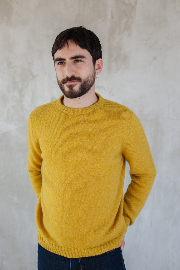 Mens Crew Neck Lambswool Jumper