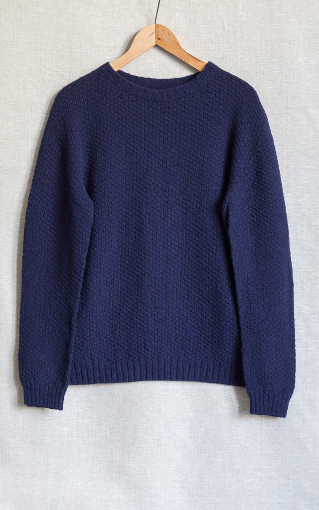 Navy moss stitch jumper