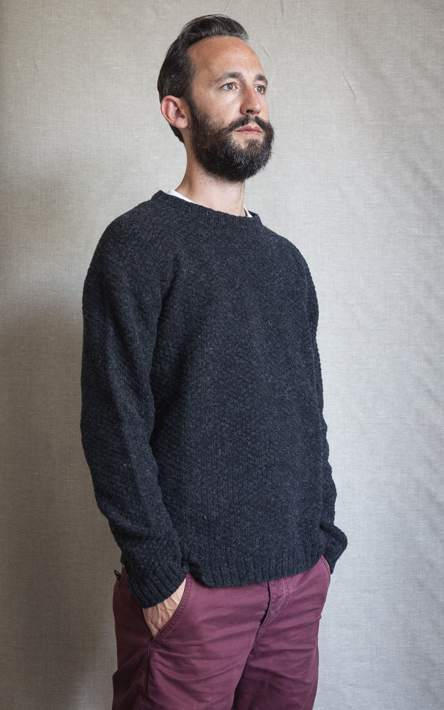 Charcoal moss stitch jumper