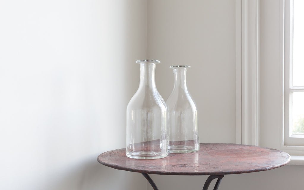 Hand blown crystal glass carafe