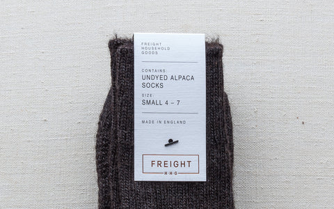 Alpaca Cushion Soled Socks - Charcoal