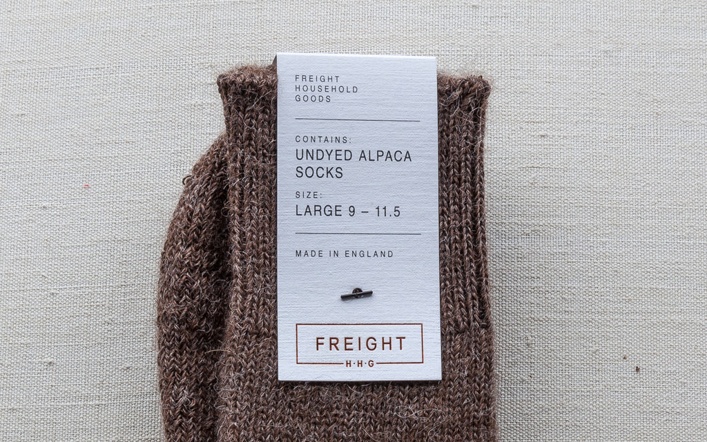 Alpaca Cushion Soled Socks - Brown